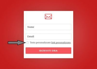 Bloom: come aggiungere il checkbox della privacy policy