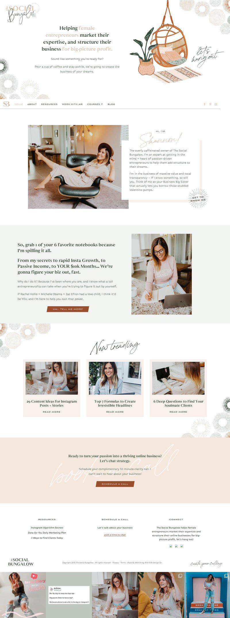 Esempi di siti fatti con Divi thesocialbungalow.com