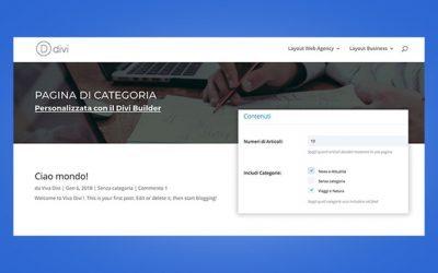 Come personalizzare le pagine di categoria con il Divi Builder