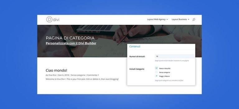 Comment personnaliser la division de page de catégorie
