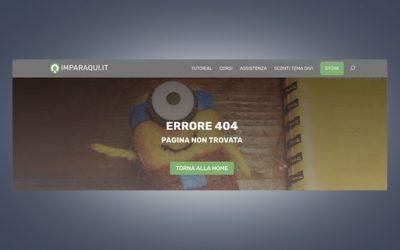 Creare una pagina 404 con il Divi Builder