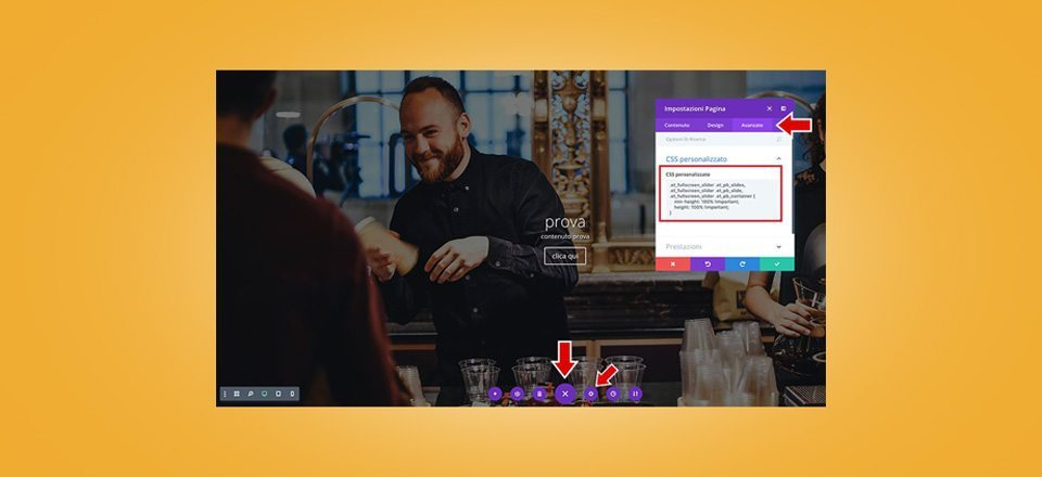 Come creare uno slider full screen con Divi
