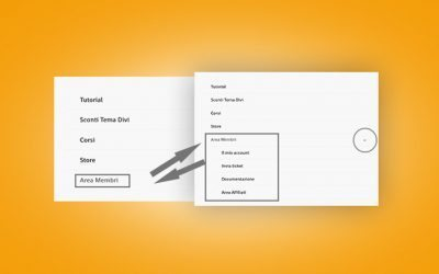 Raggruppare le voci secondarie del menu di Divi da mobile