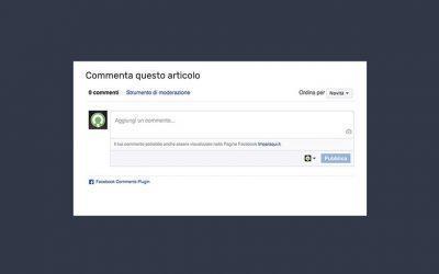 Aggiungere i commenti Facebook su blog WordPress