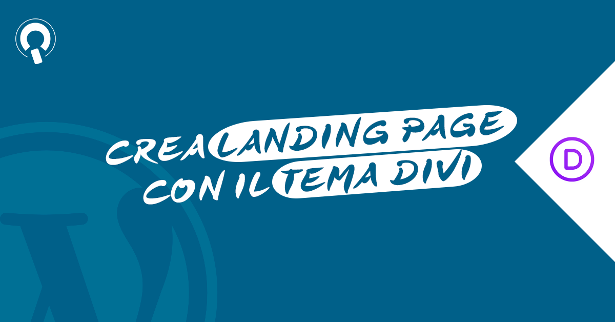 Corso DiviLand creare landing page con WordPress e tema Divi 2020