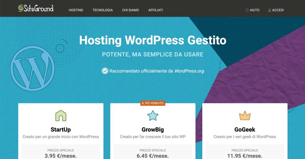 migliori-hosting-wordpress-italiano-2019-siteground
