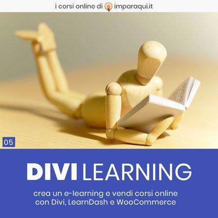 creare elearning wordpress divi divilearning imparaqui