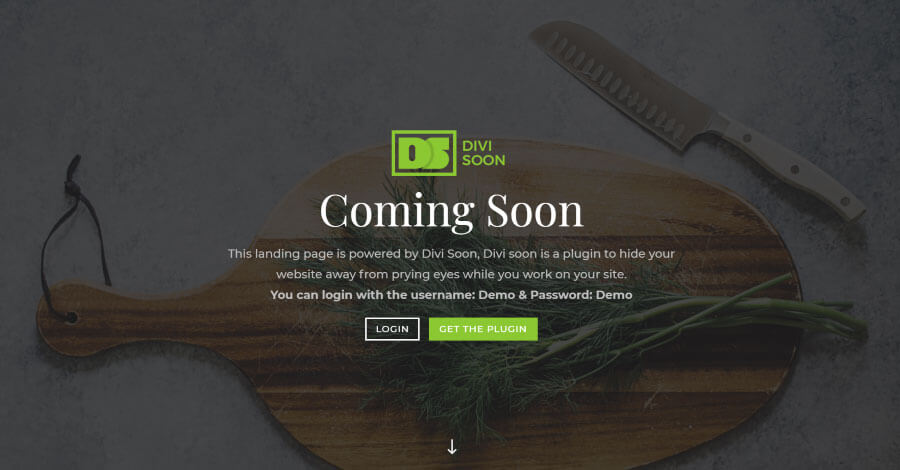Divi Stride : pagina Coming Soon con Divi