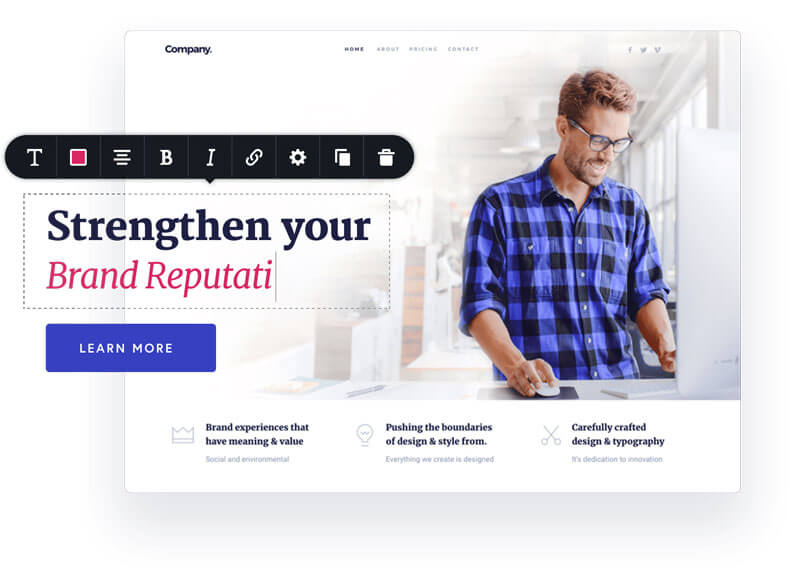 Migliori page builder WordPress - Brizy