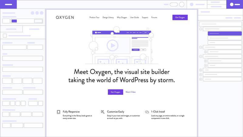 Esempio di page builder per WordPress - Oxygen