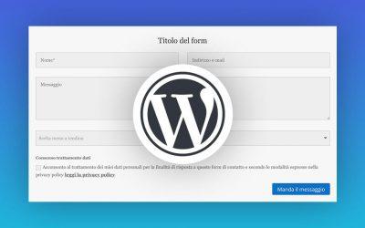 5 migliori form di contatto per WordPress