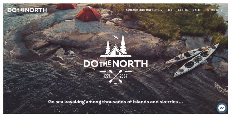 Esempio sito WordPress fatto con Elementor per agenzia di viaggi