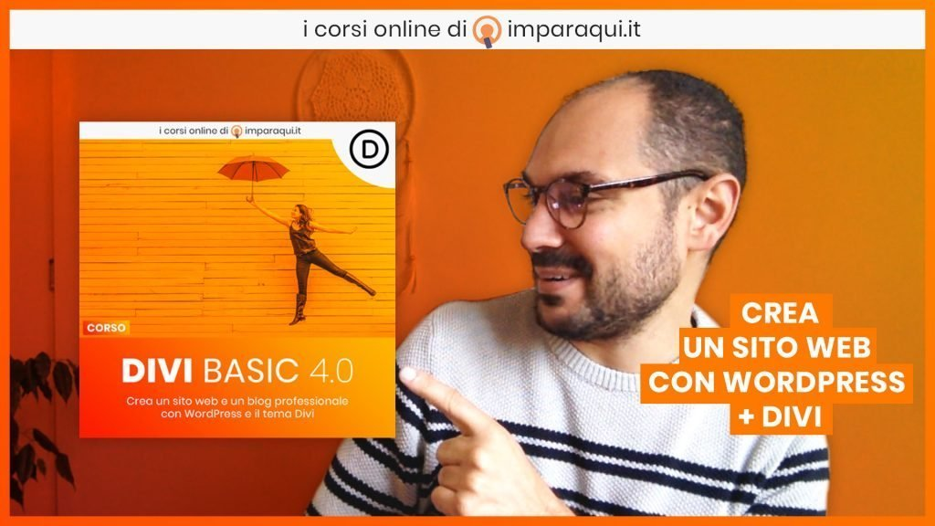Divi Basic 4 Corso WordPress Divi Italiano Imparaqui
