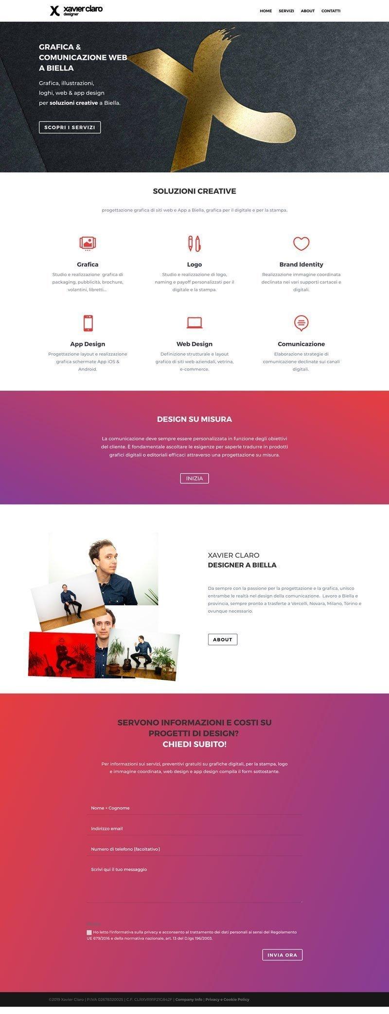 Esempi di siti fatti con Divi xavierclaro.com