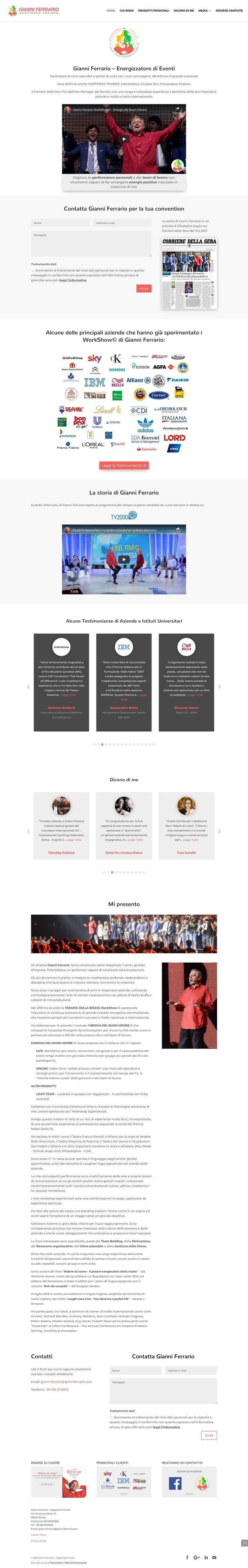 Esempi di siti fatti con Divi gianniferrario.com