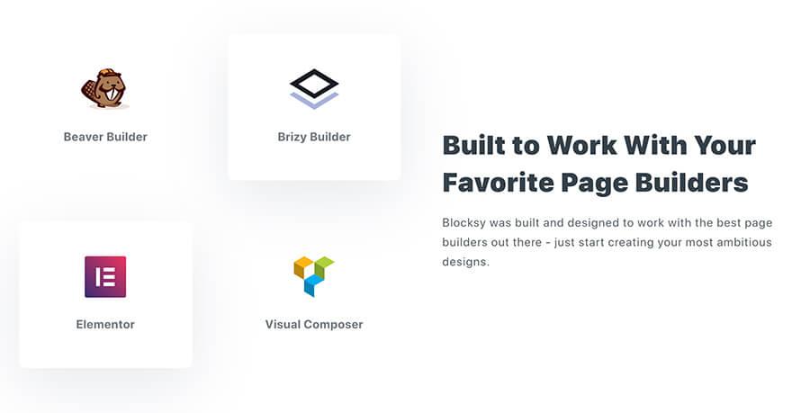 Blocksy compatibile page builder Elementor e altri