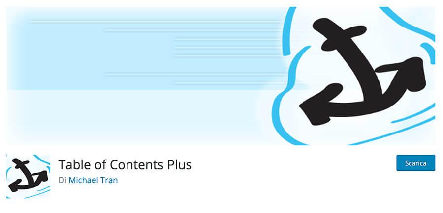 Table of Contents Plus WordPress tabella contenuti plugin