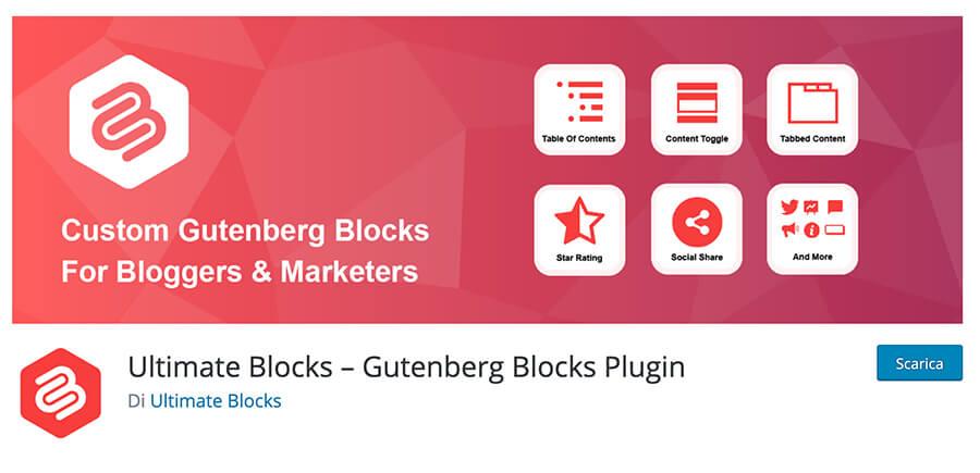 Ultimate Blocks Table of Contents per Elementor e altri blocchi Gutenberg