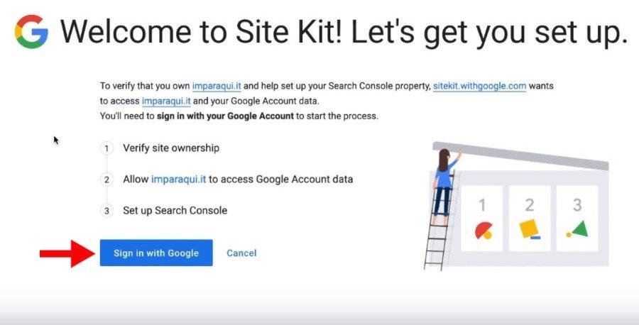 Google Site Kit Tutorial Italiano