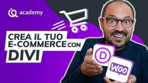 Corso online e-commerce Divi italiano imparaqui WordPress