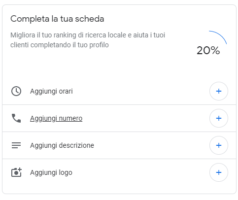 Google My Business tutorial italiano