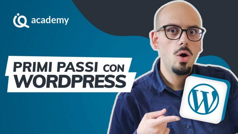 Corso online WordPress principianti imparaqui