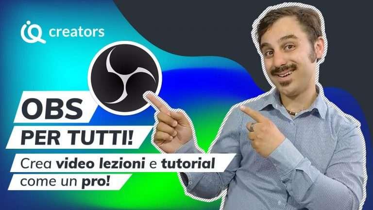 Corso OBS italiano video lezioni tutorial Alessio Puccinelli su imparaqui